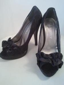 escarpins ouverts noir