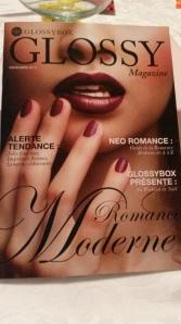 Glossy Box Novembre 2013 - Romance Moderne