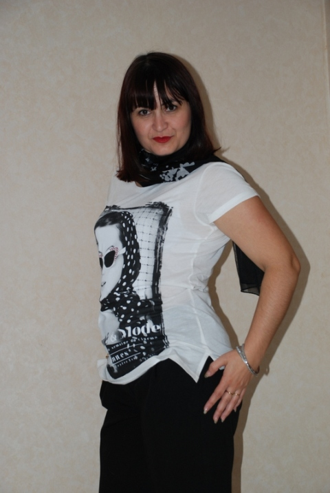 T-shirt imprimé pin-up Morgan