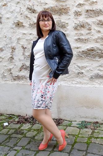 La robe imprimée Esprit bucolique chic Blanche Porte DSC01346