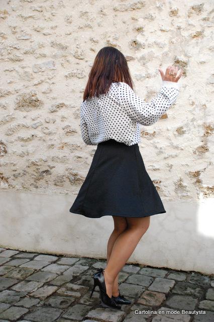 Look de rentrée : jupe patineuse H&M