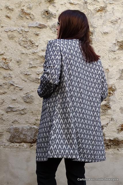 Veste Manteau à motif texturé H&M