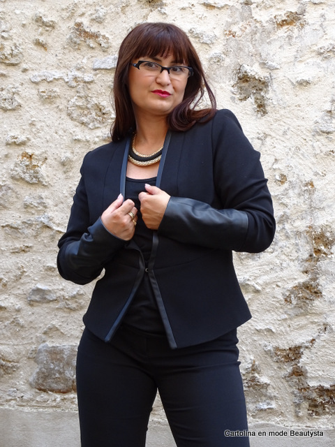 Look Total Black x Veste Blazer H&M