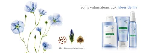 soins volumateurs aux fibres de lin Klorane